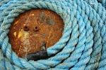 Coil of blue rope
