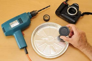 Materials needed for making your pinhole camera